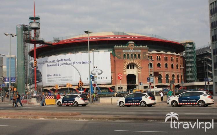 Arena de Barcelona: arena walk byków, przerobiona na centrum handlowe, Plaza Espanya, Barcelona