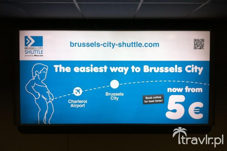 Autobus z Charleroi do Brukselii kosztuje od 5 Euro