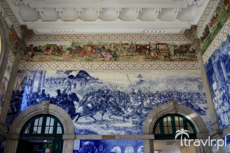 Azulejos na stacji Sao Bento w Porto