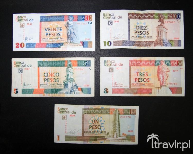 Banknoty Peso Cubano Convertible