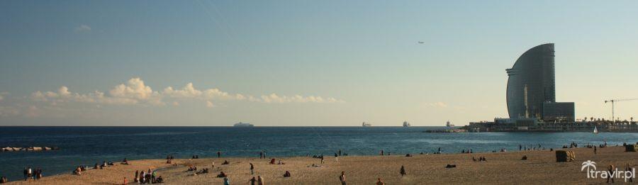 Plaża Barceloneta w Barcelonie