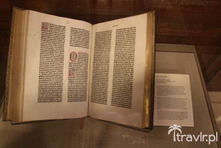 Biblia Gutenberga w Nowojorskiej Bibliotece Publicznej