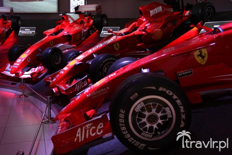 Bolidy Formuła 1 ze stajni Ferrari