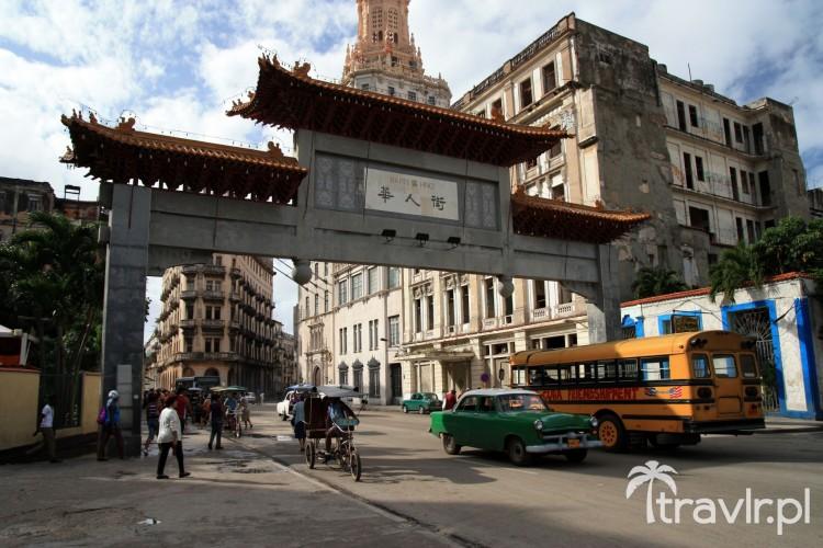 Wejście do chińskiej dzielnicy w Havanie