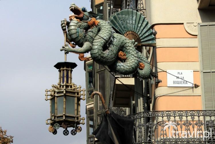 Chiński smok na Casa Bruno Cuadros Barcelona