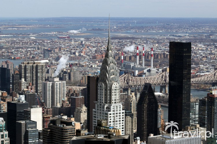 Chrysler Building widziany z Empire State Building