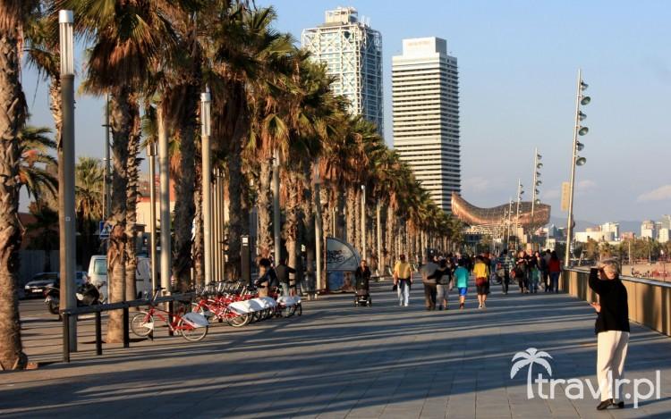 Deptak wzdłuż plaży Barceloneta, Barcelona