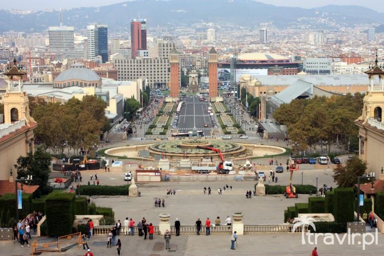Font Magica - widok w kierunki Plaza Espanya - Barcelona