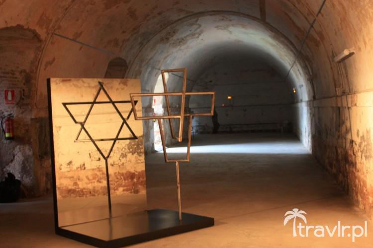 Gwiazda Dawida na zamku Montjuic, Barcelona