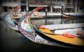 Łodzie na kanale w Aveiro