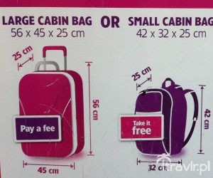 Mały i duży bagaż podręczny w Wizzair