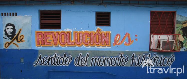 Mural propagandowy w Varadero