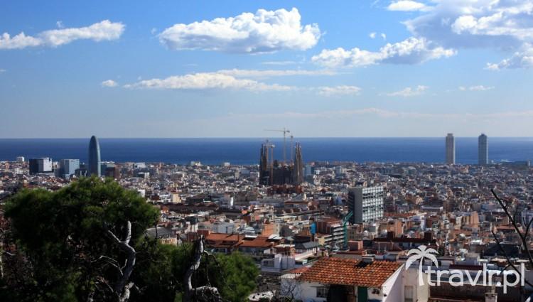 Panorama Barcelony widziana z Parku Guell