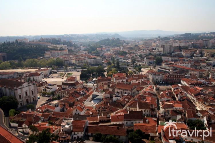 Panorama Leiria widziana z zamku