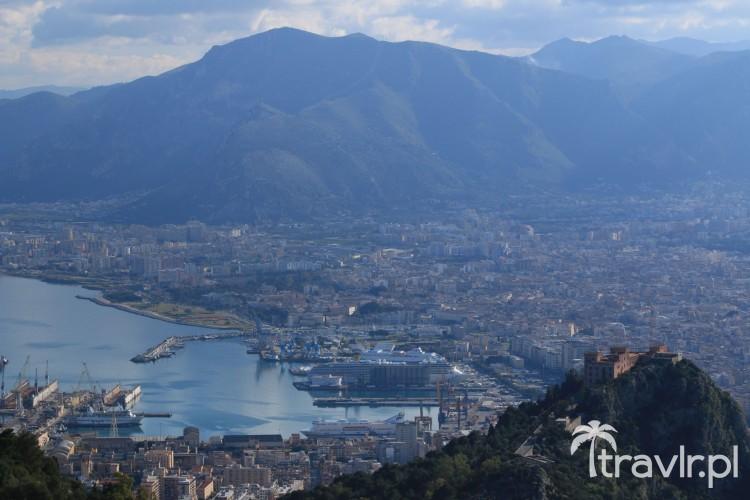 Panorama Palermo ze szczytu Monte Pellegrino