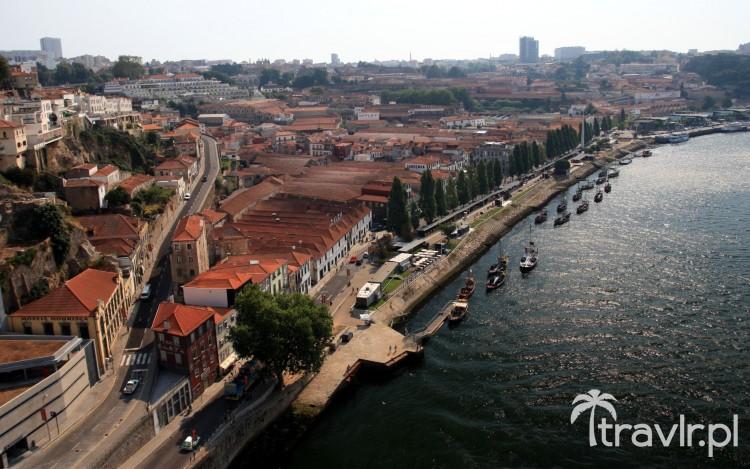 Panorama Vila Nova de Gaia z mostu Ponte Dom Luis I