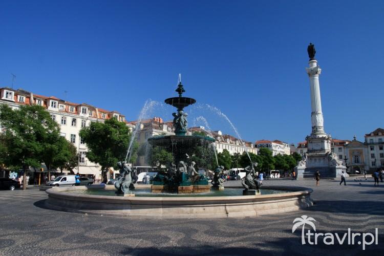 Plac Rossio w Centrum Lizbony