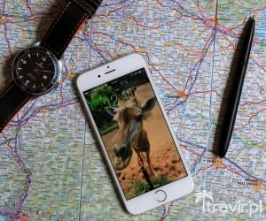 Planowanie podróży z iPhonem i mapą w ręku