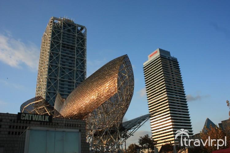 Rzeźba Franka Gehry'ego - Peix d'Or, Barcelona