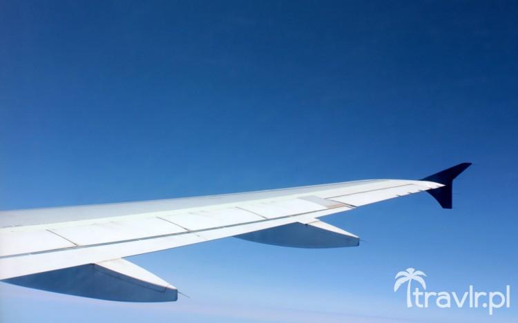Skrzydło samolotu pasażerskiego