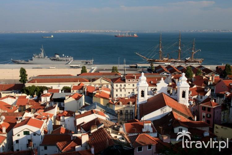 Widok na rzekę Tag w Lizbonie