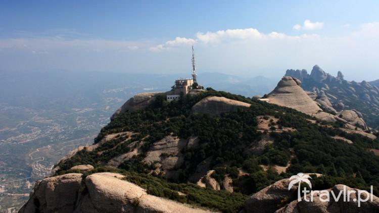 Widok ze szczytu Sant Jeroni Montserrat Katalonia