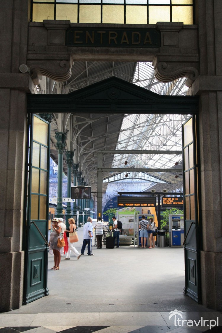Zabytkowe perony na stacji Sao Bento