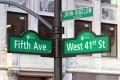 Znak 5 aleja (5th avenue)